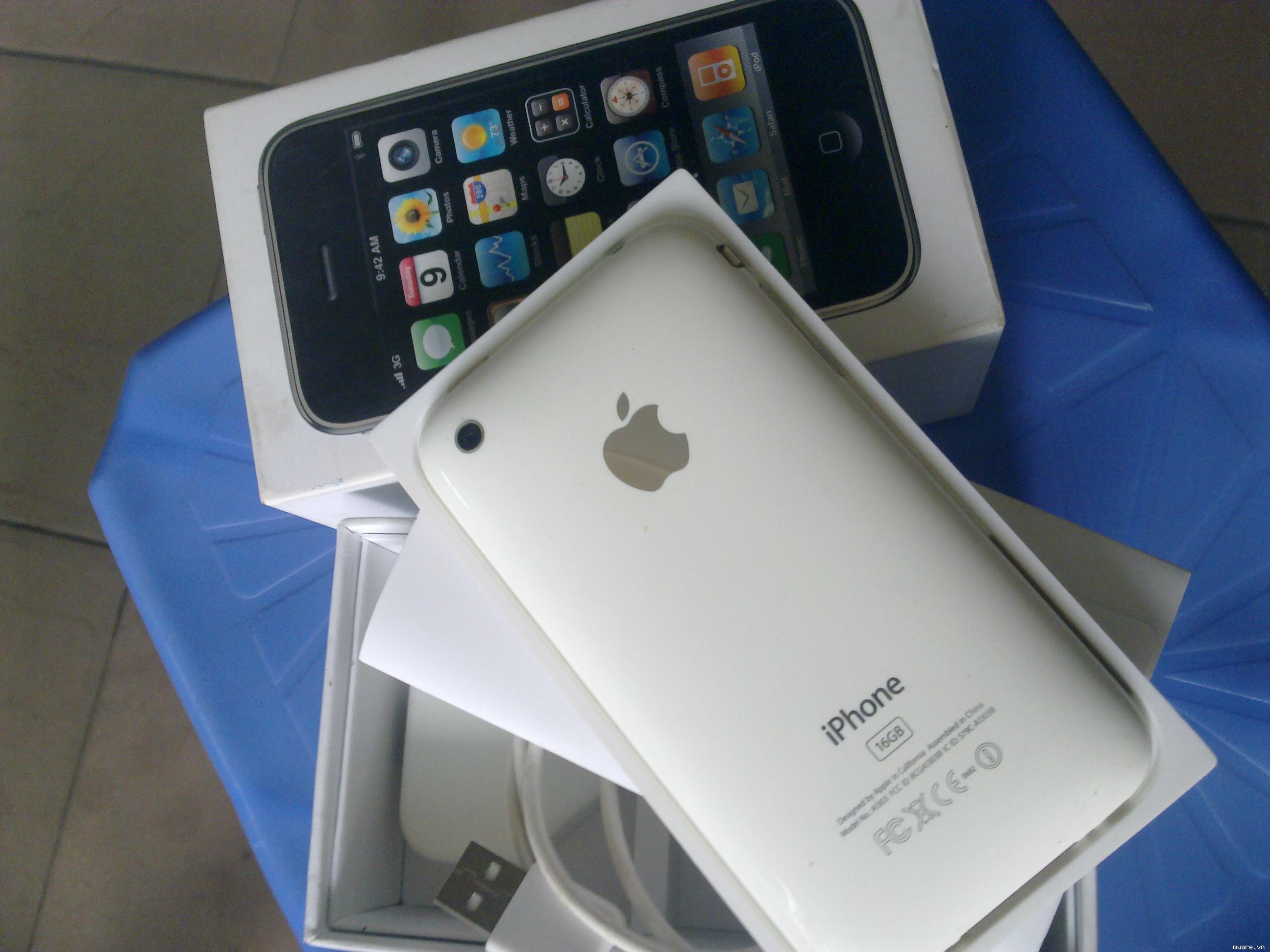3GS - 16G - màu trắng - zin - bản quốc tế - fullbox