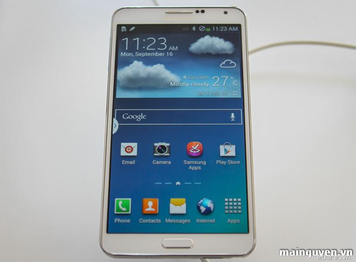 SS Galaxy Note 3 N9000 white hàng cty bh 4 10 2014 like new